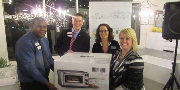 The silent auction raised $2,700 for the Interfaith Food Pantry